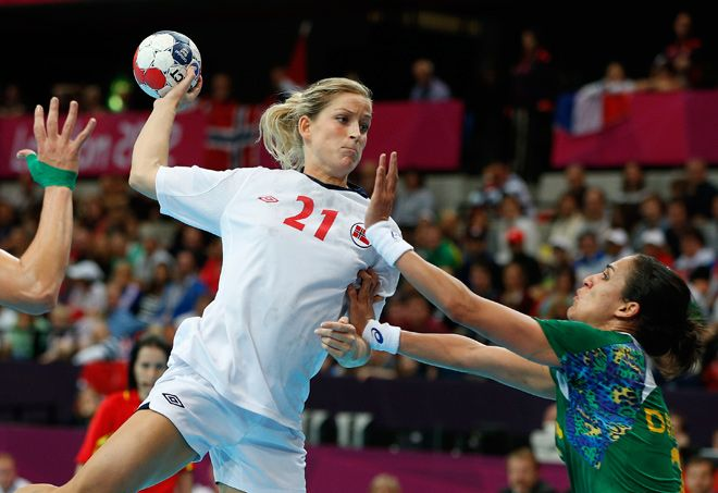 The Norwegian girl`s are World Champions in handball.