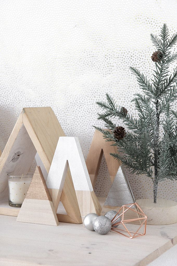 Modern DIY Wooden Holiday Trees