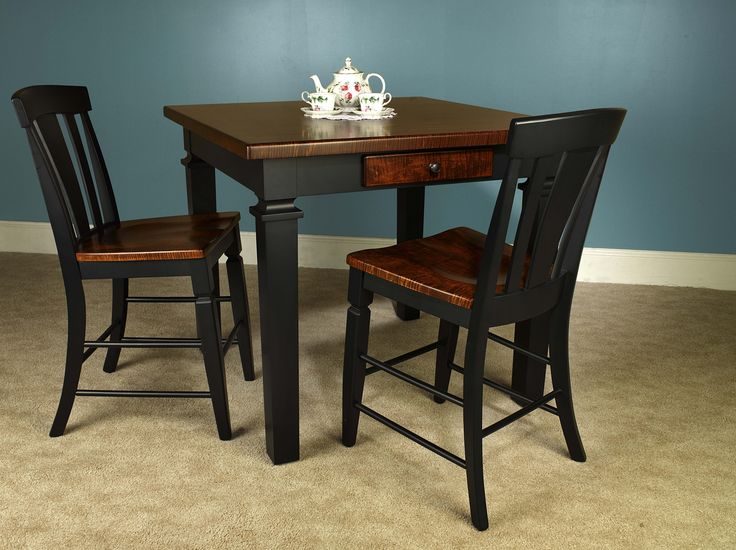 Soft Curly Maple Pub Table Solid Wood Dining Tables Get Premium Amish Made Sets At Home Acres