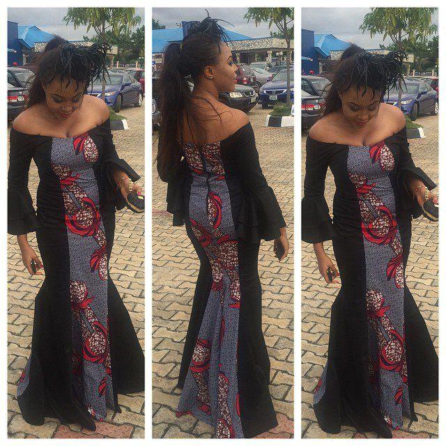 http://www.dezangozone.com/2015/10/beautiful-ankara-gown-style.html ~African fashion, Ankara, kitenge, African women dresses, African prints, African men's fashion, Nigerian style, Ghanaian fashion ~DKK