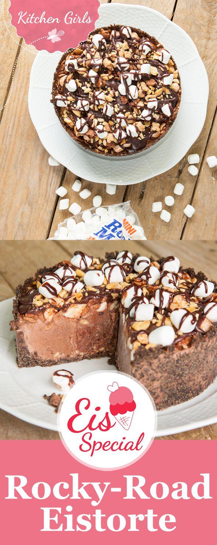 Diese Eistorte wird euch umhauen: In unser Rezept kommen neben Schokolade und Oreos auch Erdnüsse und Marshmellows.