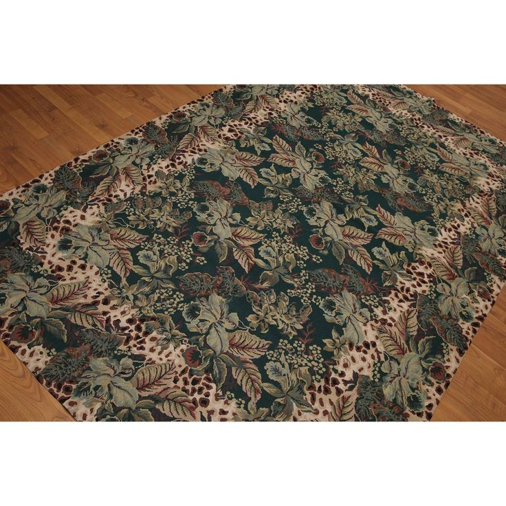 Needlepoint Area Rug -Color 100% Aubusson Flat Pile Rug
