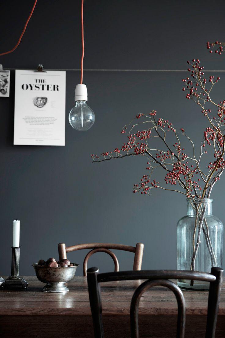 25 beste idee n over donkere muren op pinterest marineblauwe muren donkerblauwe kamers en - Donkere gang decoratie ...