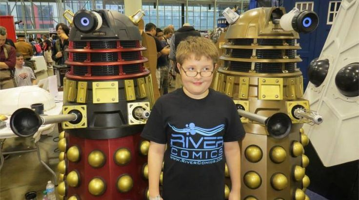 Ethan with some Daleks...