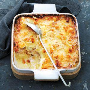 Recept - Gratin van aardappel, ansjovis en ui - Allerhande