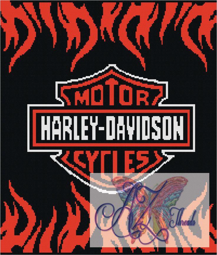 Harley Davidson Afghan Free Chart Crochetholic Hilariafina