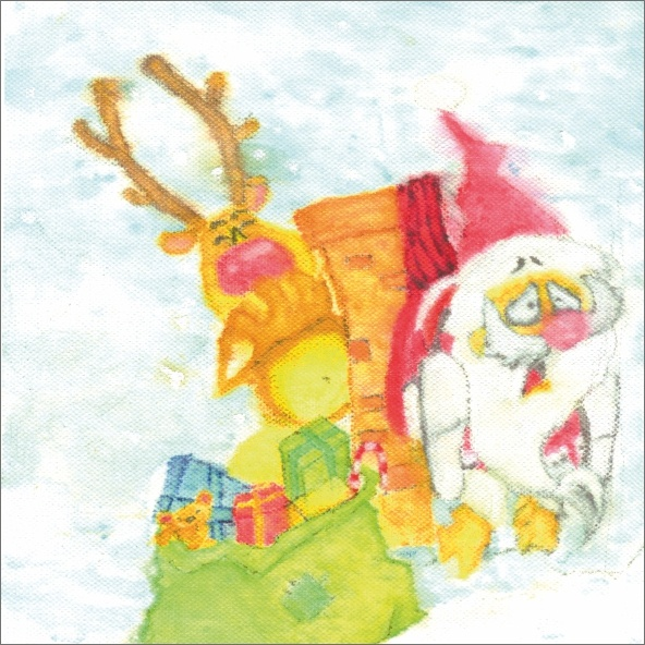 Boże Narodzenie to temat najnowszej serii kartek z rysunkami autorstwa osób z niepełnosprawnością #kartka #handmade #christmas