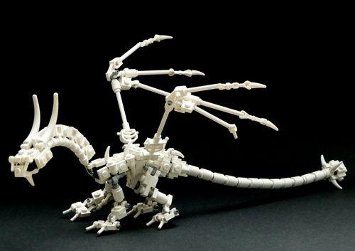 Cool LEGO dragon skeleton