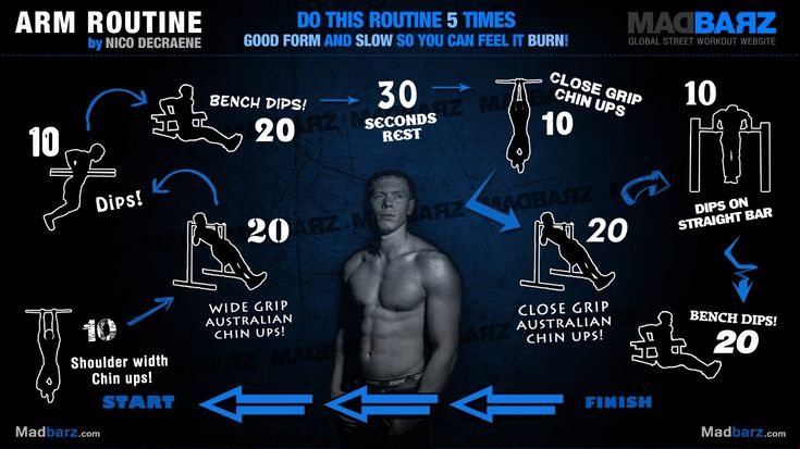 Arm Routine By Nico Decraene Httpmadbarzcom Calisthenics Pinterest Body Weight