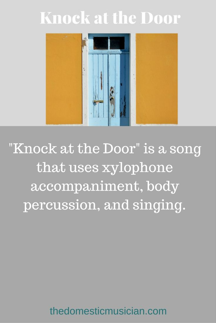 "Online music lessons for kids elementary music education lesson ""Knock at the Door"" for your homeschool or classroom music."