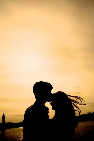 You Already Take Me There | Teen Photograph About teens, silhouettes, couple, sunset, kissing forehead, teenagers, romance, love, kiss in the sunset and shadow