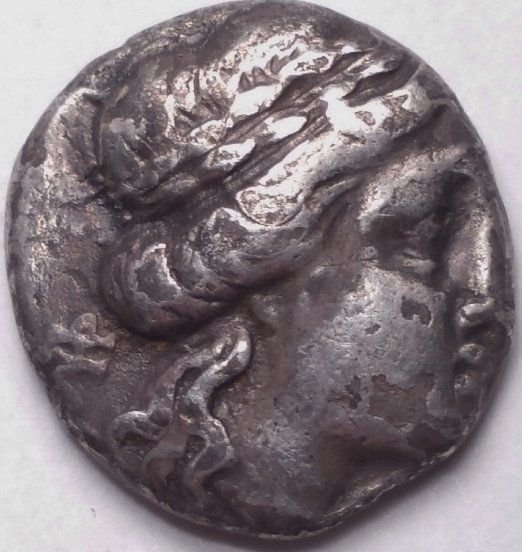 THESSALY 196-27 BC THESSALIAN LEAGUE AR DRACHM 17 MM...ANCIENT GREEK COIN