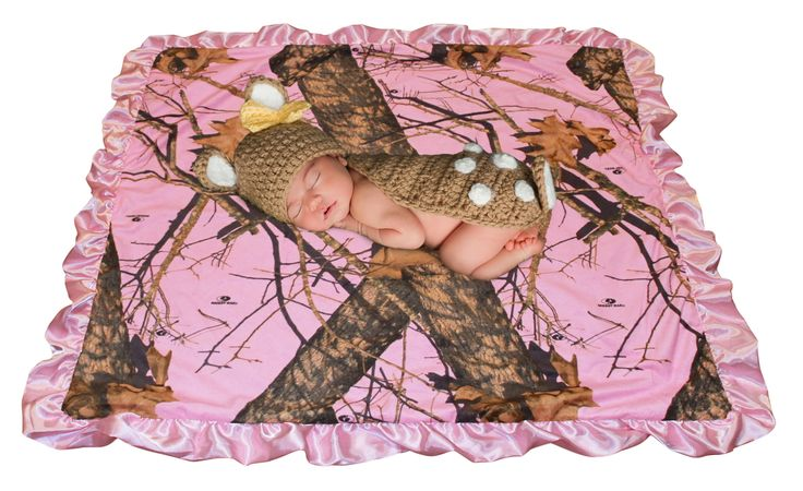 Pink Camo Baby Blanket & Bib MOSSY OAK PINK Country Girl Infant Gift F – Camo Chique
