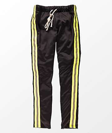 Eptm Reflective Black Yellow Track Pants Things To Wear In 2018