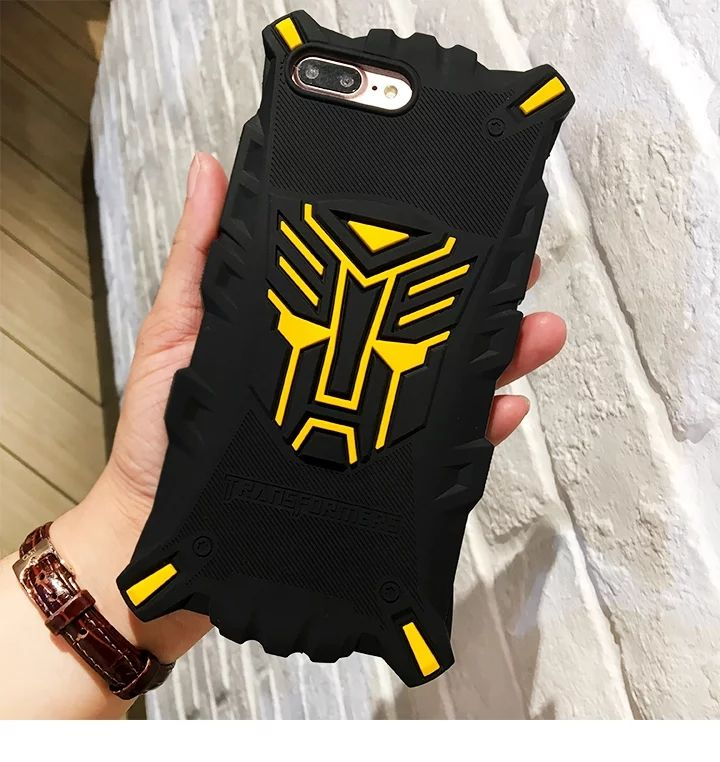 Hot Soft Car Man Robot Mask Cartoon 3D Silicon Protective cover Case for iphone 5 5s se 6 6s 7 plus,for kinds girls boys man