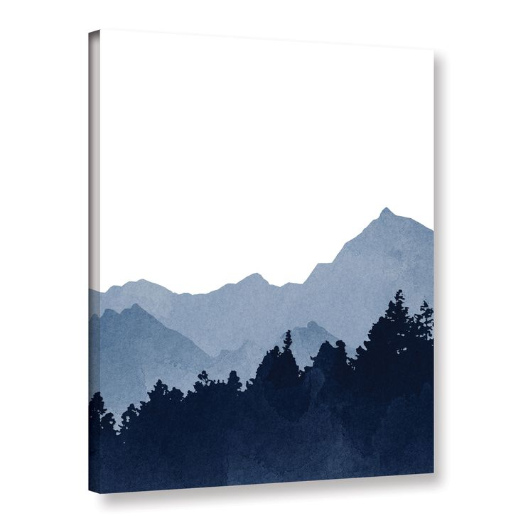 Blue Mountain by Amy Cummings Painting Print on Gallery Wrapped Canvas