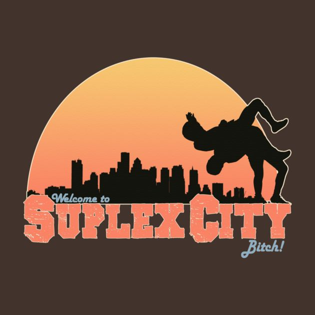 """Suplex City, Bitch…""  Still hyped after Wrestlemania and couldn't resist making this Brock Lesnar inspired tee.   Available at TeePublic.  #WWE, #Suplex City, #Brock Lesnar, #Roman Reigns, #Seth Rollins, #Wrestlemania, #Bitch"