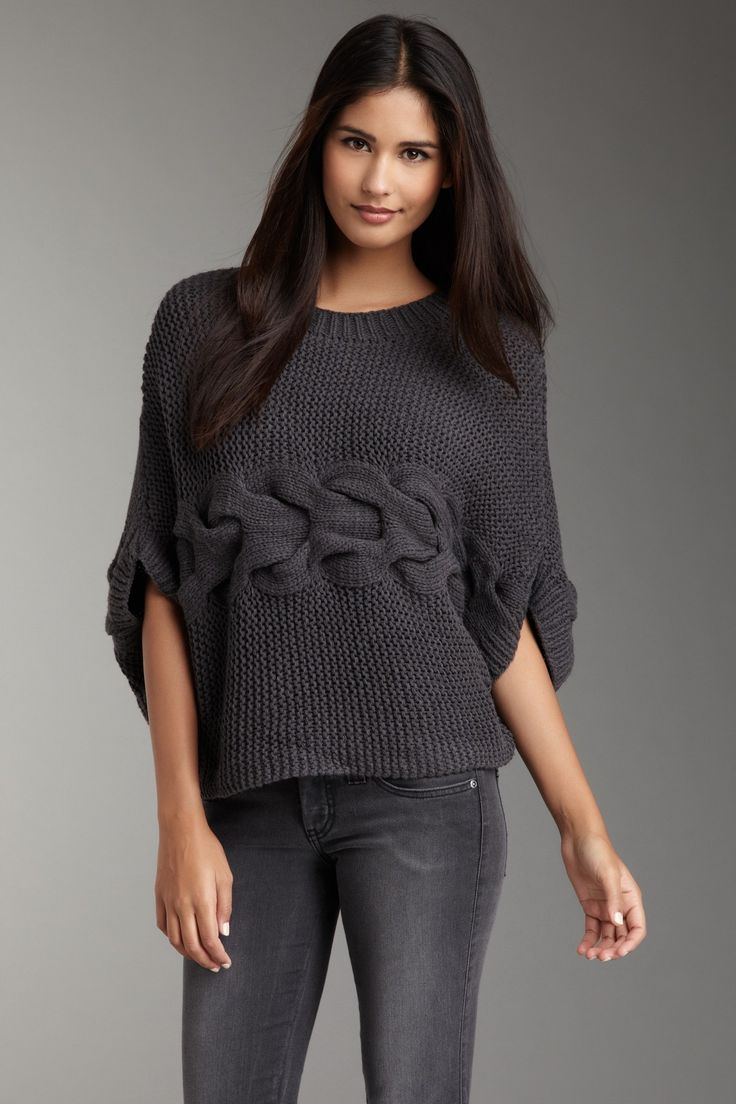 Romeo & Juliet Couture  Large Woven Knit Sweater  $45.00    - Crew neck…