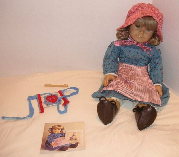 Here is a Kirsten doll plus seven other outfits and accompanying accessories, plus bed and trunk: $2,199.99 | How Much Is An Original American Girl Doll Worth?