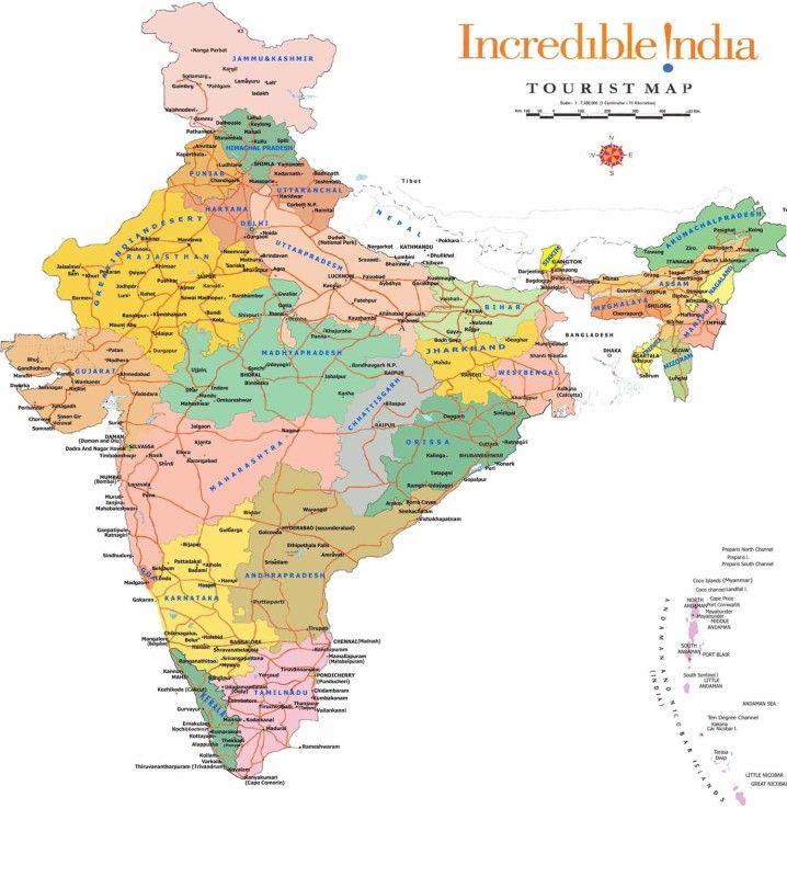 India Travel Map - Large #indiacitiesmap #indiatravelmap #largemapofindia http://www.toursoftajmahal.com/blog/india-travel-map-large/