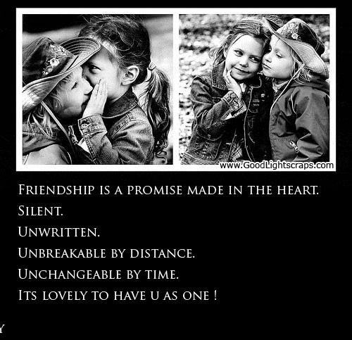 Friendship is a promise made in the heart #friendship #friends #bestfriends