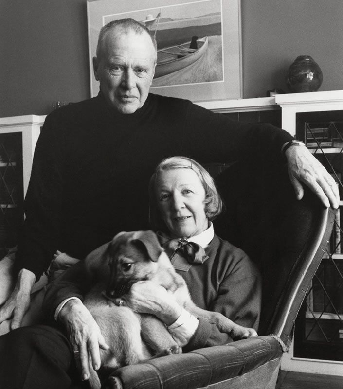 Alex Colville - National Gallery of Canada - With wife Rhoda - died 7 mos after her - married about 70 yrs