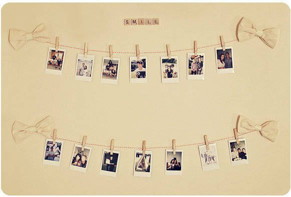 Polaroids Hanging On Wall What To Do With Polaroids