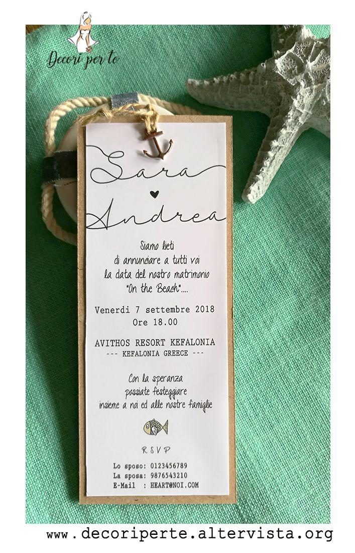 Partecipazioni Matrimonio Mare Modello Segnalibro In Cartoncino Avana Personalizzate Co Inviti Per Matrimonio Cartoleria Per Matrimoni Partecipazioni Nozze