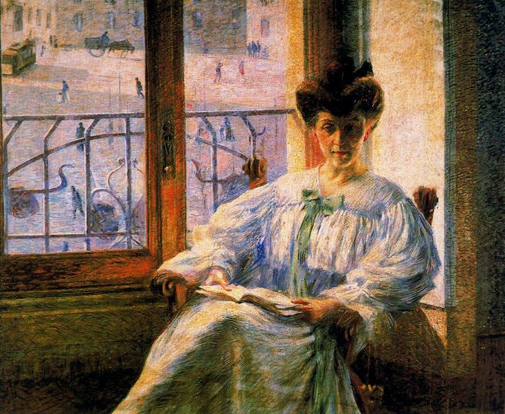 Umberto Boccioni (1882-1916) – Portrait of a Young Woman (1908) Palazzoli Collection, Milan, Italie