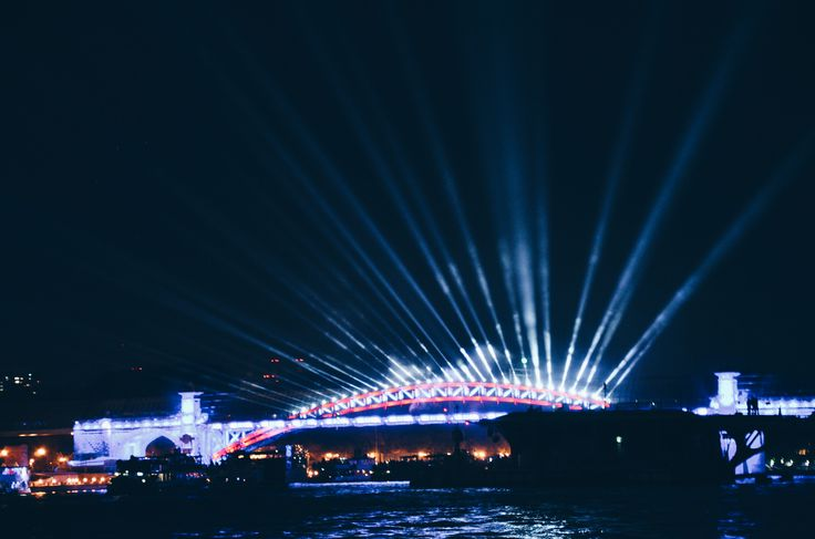 Light show at Moscow festival of lights