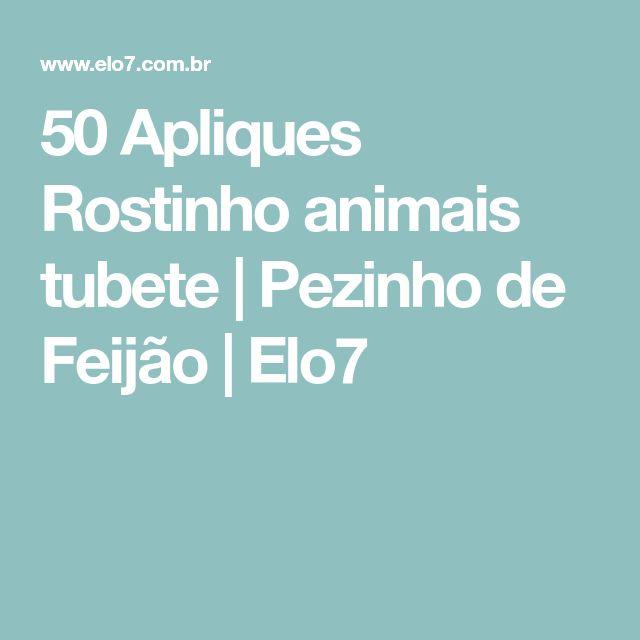 50 Apliques Rostinho animais tubete | Pezinho de Feijão | Elo7