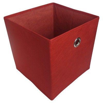 red storage cube for kallax organizer