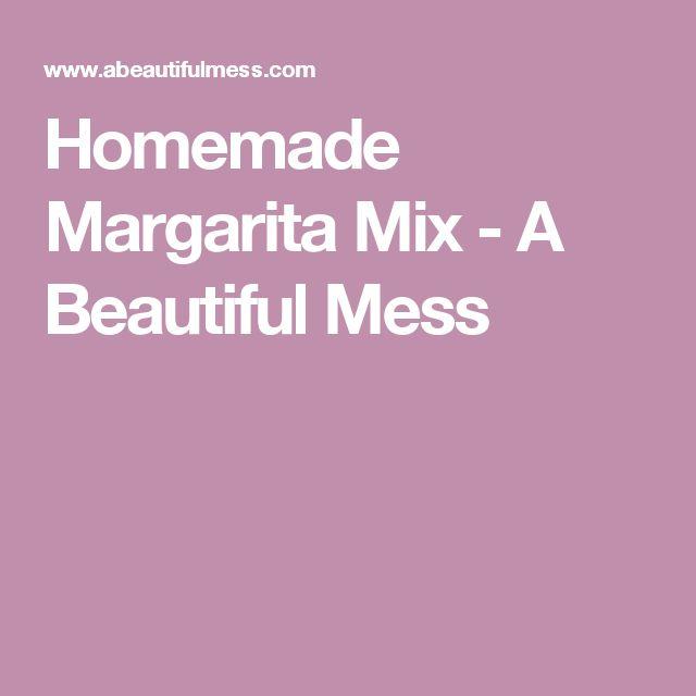 Homemade Margarita Mix - A Beautiful Mess