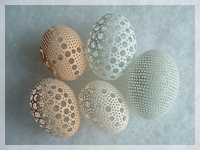 Carved (Chicken And duck)Egg---Circle Dance-3(sold) by Superman.Sculptor, via Flickr