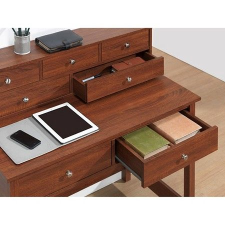 Elegant Desk with Storage Oak - Techni Mobili : Target