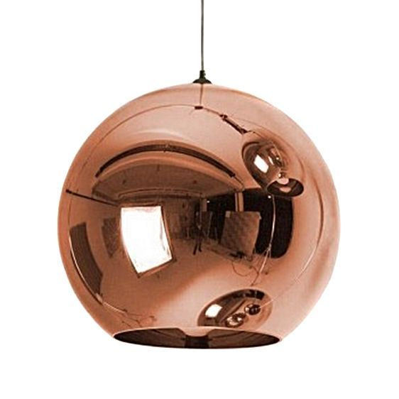 Capture a warm sphere of sculptural design in your space with the luminous Replica Tom Dixon Copper Pendant Light from Amonson Lighting.