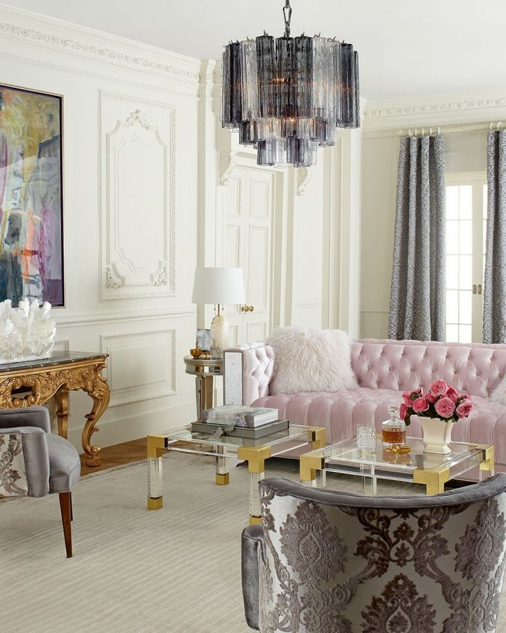 A Manhattan Glamour Style Living Room #MGdecor #decor