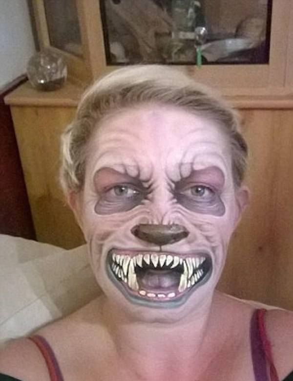 the scariest halloween face paintings youve ever seen in - Scary Faces For Halloween With Makeup