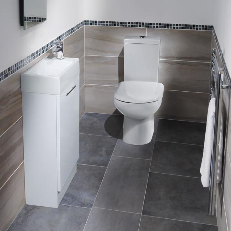 Milos White Gloss Cloakroom Suite - Image 1