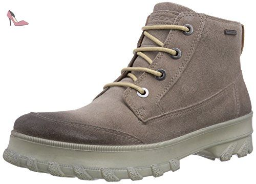 U Wells A, Sneakers Basses Homme, Gris (Stone), 43 EUGeox