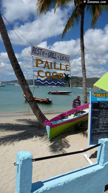 A little restaurant in front of the Caribbean sea. Sainte-Anne - Martinique.