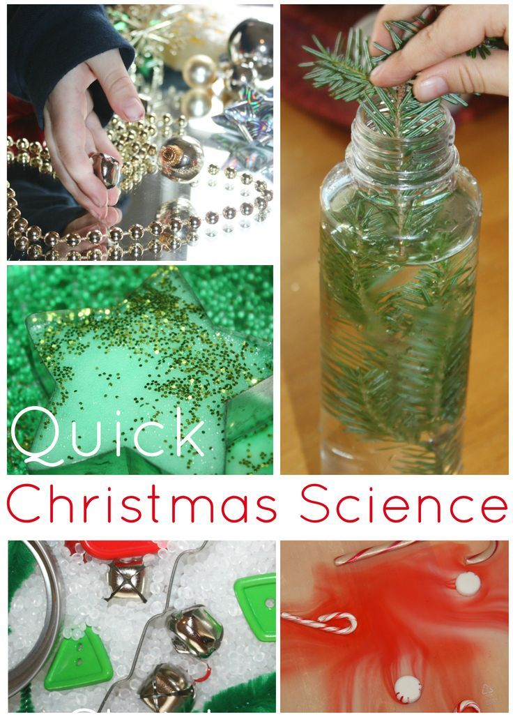 Quick Science Christmas Activities for Kids