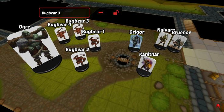 Miniature Naming and Locking in 3D Virtual Tabletop