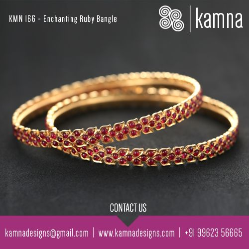Enchanting Ruby Bangle..