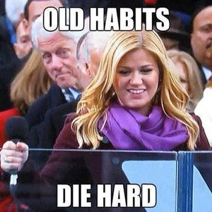 The best Internet memes and parodies poking fun at former President and would-be First Gentleman Bill Clinton.: Old Habits Die Hard