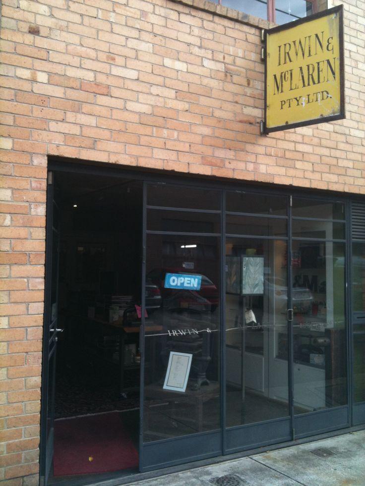 Irwin & McLaren Beautiful bookbinding shop.  64 Cubit Street, Richmond.