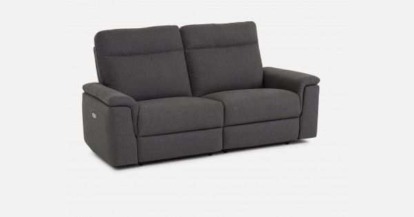 Now two can recline as easily as one! The Cortez power recliner loveseat offers comfort with flexibility. Sink back into the deep foam and fibre  seating or stretch out (solo or together) using the one-touch power recliner button. You will find, close to the buttons on both sides of the loveseat,  a lit USB port that will allow you to charge your electronic devices while you relax. With curved lines, a strong wood frame and cushiony armrests,  Cortez is a modern addition to your living room…
