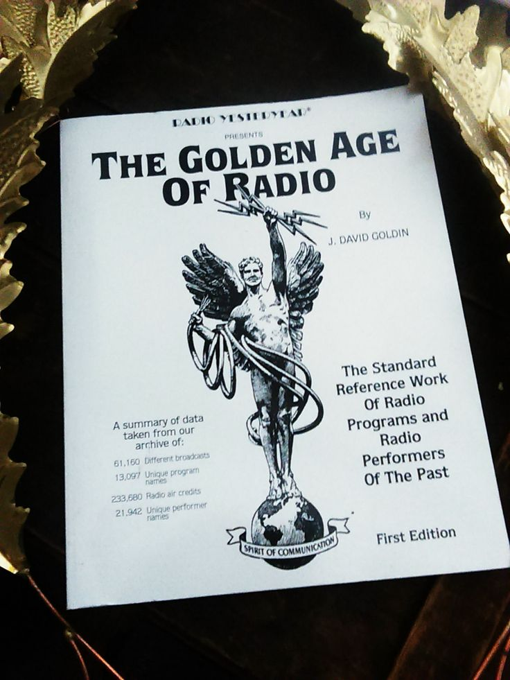 """1965 First Edition Radio Yesteryear Presents """" The Golden Age Of Radio"""" Book by J. David Goldin / Radio Reference Book / Literary Treasures by JulesCristenVintage on Etsy"""