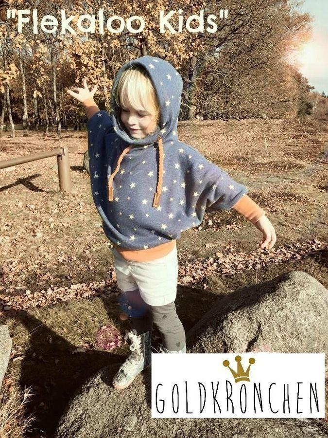Flekaloo Ebook, Fledermaus Shirt mit Kapuzenloop - Schnittmuster und Nähanleitungen bei Makerist