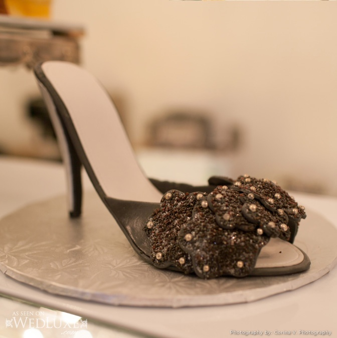 An edible shoe by Patricia's Cake Creations - fabulous for a shower or  party! Via